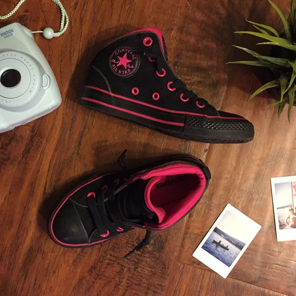 b091b38ad14f Converse Other - Converse All-Star Static Mid Top Sneaker Blk Pink